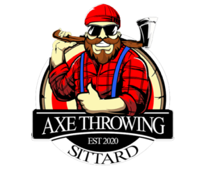 Logo axe throwing geen achtergond